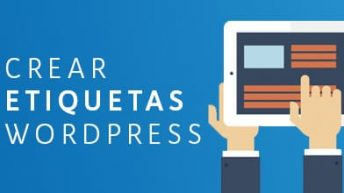 crear etiquetas en wordpress