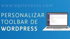 accesos directos barra administracion wordpress