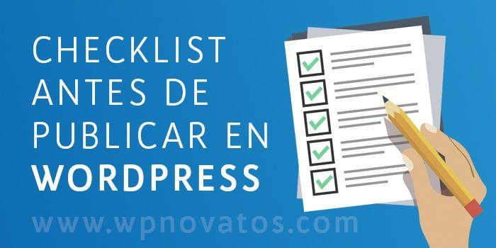 checklist antes publicar articulos