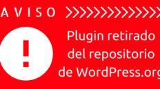 Plugin retiradodel repositoriode WordPress.org