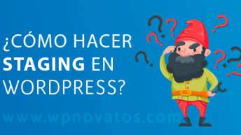 como hacer staging wordpress