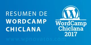 WordCamp Chiclana 2017. Resumen