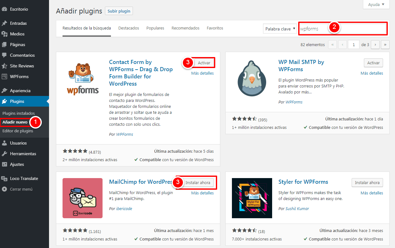instalar plugins wordpress 2