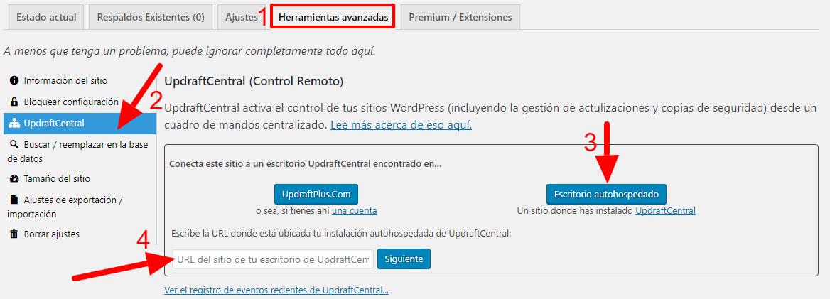 UpdraftPlus-varios-sitios-web