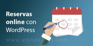 Reservas online con WordPress