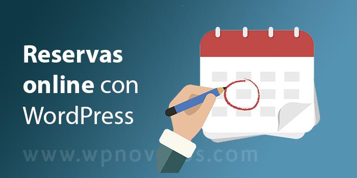 reservas online wordpress
