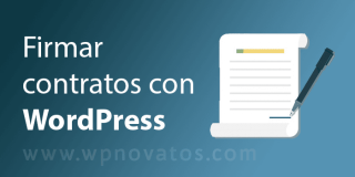 Firmar Contratos con WordPress