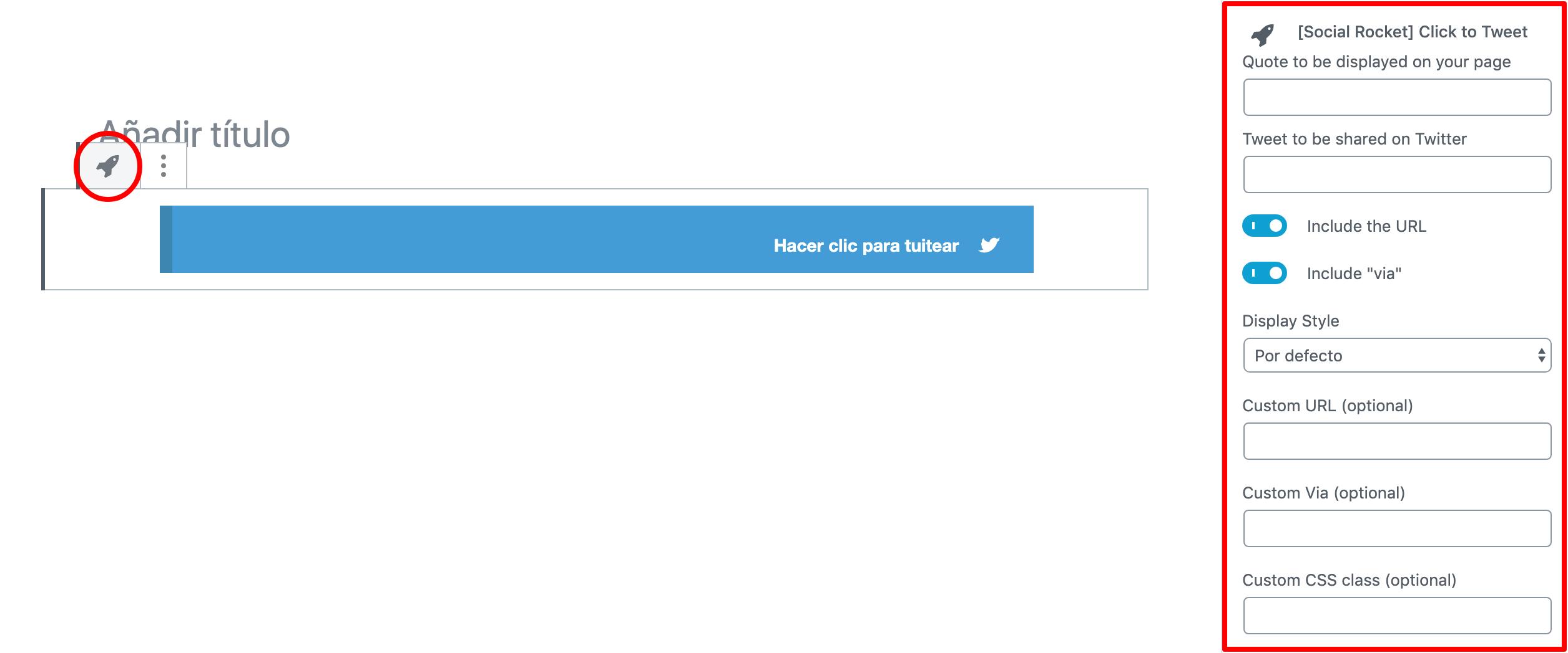 clic to tweet bloque