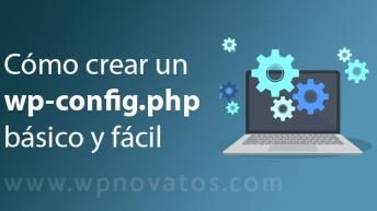 crear fichero wp config