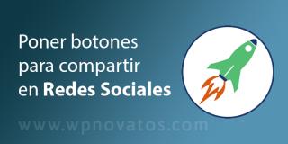 Poner botones para compartir en redes sociales