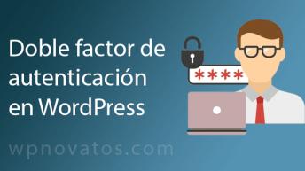 doble factor autenticacion wordpress