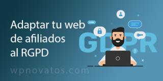 Adaptar una web de afiliados al RGPD