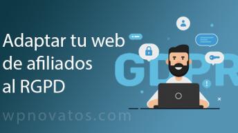 adaptar web afiliados rgpd