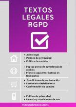 textos legales rgpd para una web