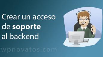 acceso soporte backend