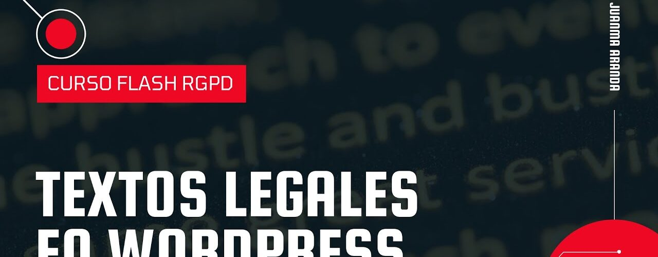 textos legales en wordpress
