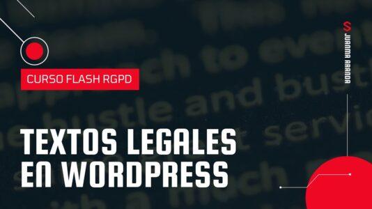 textos legales en wordpress